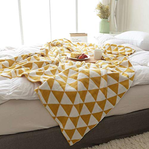 Qucover Modern Warm Knitted Throw Bed Blanket