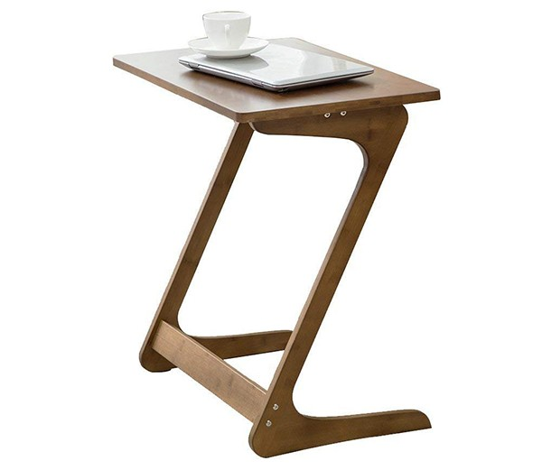 Sofa Table TV Tray, NNEWVANTE Couch Sofa End Table Laptop Desk Bamboo Coffee Table Side Table Snack Tray for Eating Writing Reading Living Room Modern Furniture Large