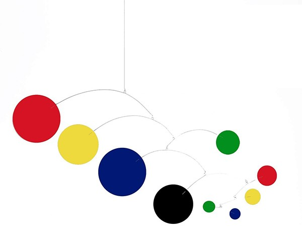 MOD Art Mobile - Choose From 2 Sizes - Colorful Retro Modern Hanging Art