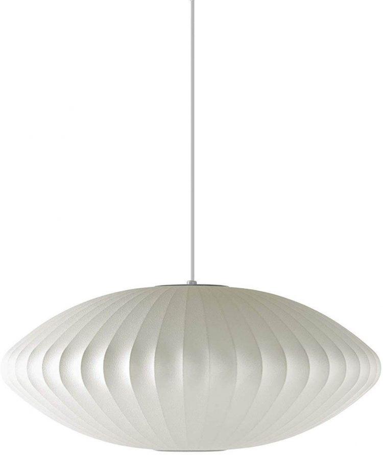 White bubble lamp.