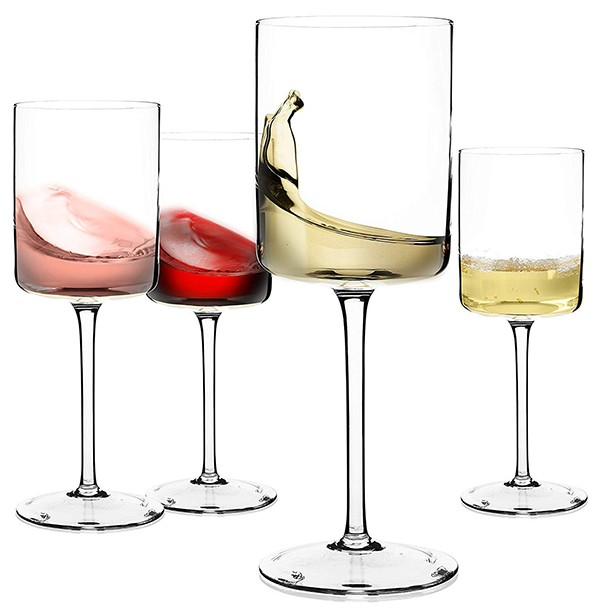 large modern crystal wine glasses