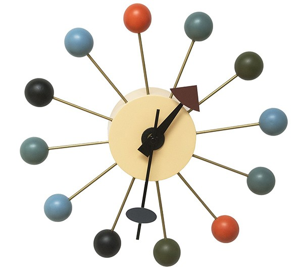 Mod Made Mid Century Modern Color Bubble Wall Clock