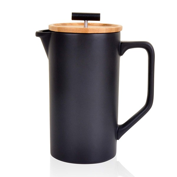black NEOCASA Ceramic French Press Coffee Maker
