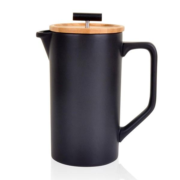 black NEOCASA Ceramic French Press Coffee Maker