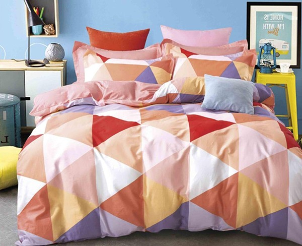 Minimal Style Geometric Shapes Duvet Quilt Cover Scandinavian Midcentury Modern Geo Print
