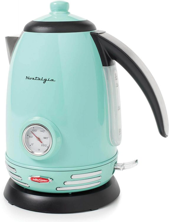Mid century turquoise electric kettle.