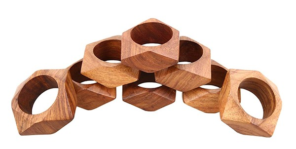 ShalinIndia Handmade Party Decor Wooden Napkin Rings