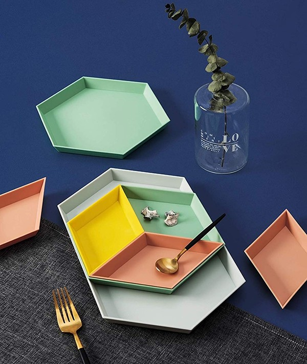 CY craft Food Serving Tray geometric