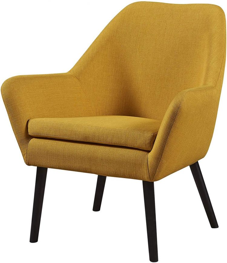 Bed and bath yellow armchair.
