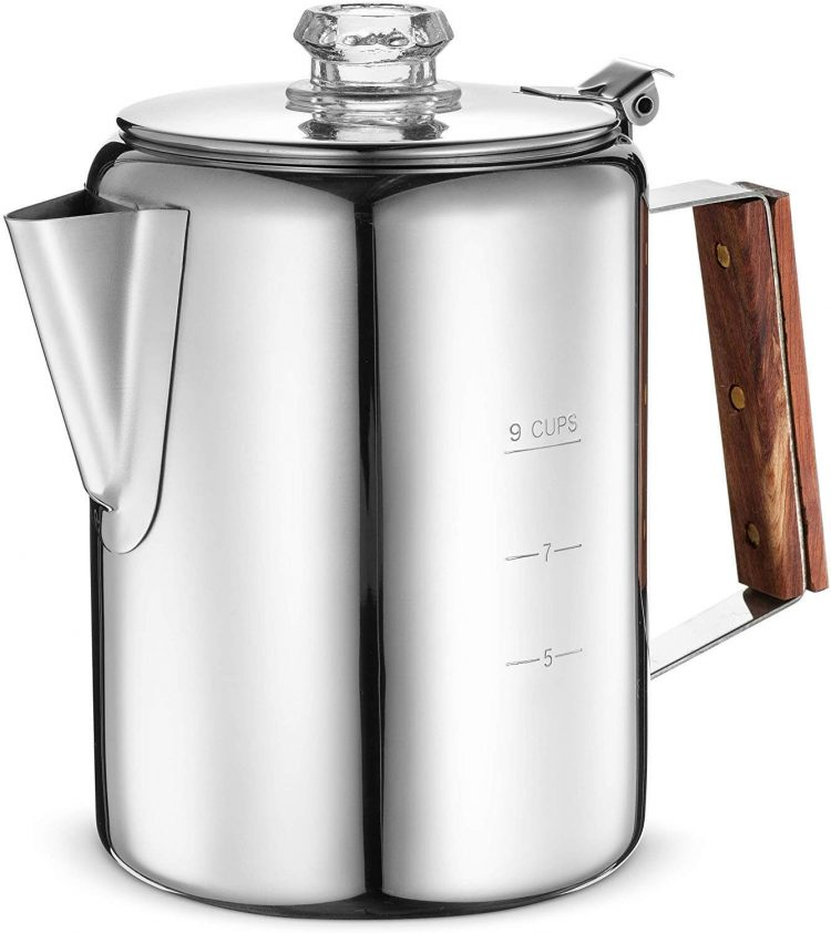 Kitchen and dining stainless steel coffee pot.