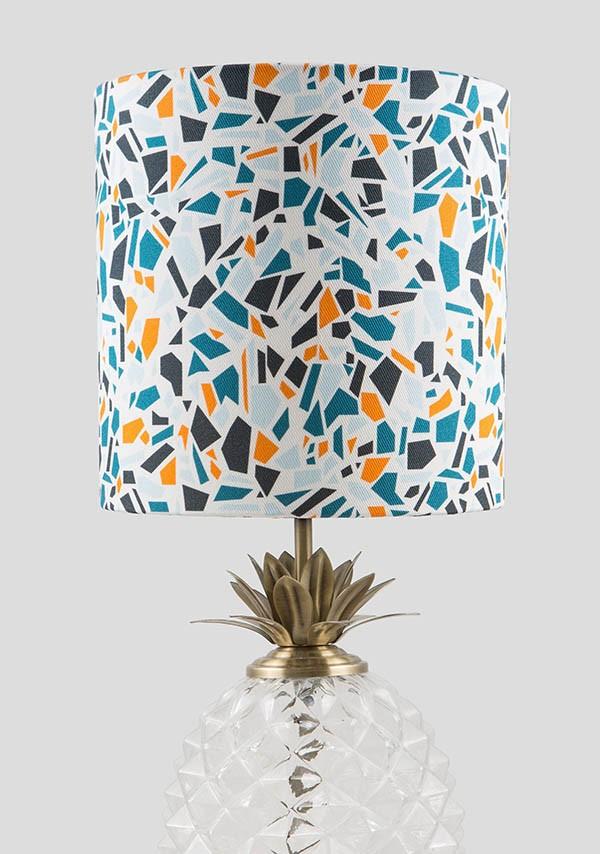 terrazzo inspired lampshade