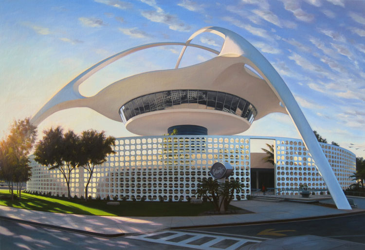Danny Heller Mid Century Modern Art LAX Building