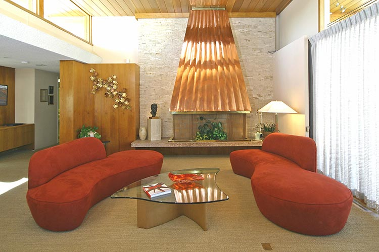 Living Room of the Las Vegas Modernist Morelli House
