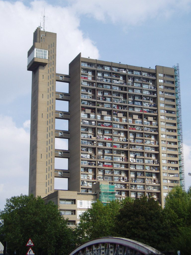 Trellick Tower, built in 1972 by Erno Goldfinger