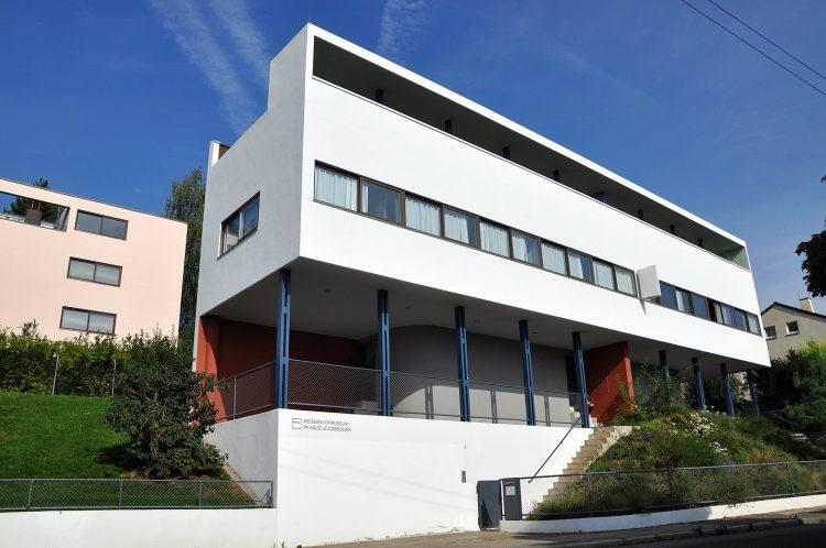 le corbusier apartments in stuttgart in international style