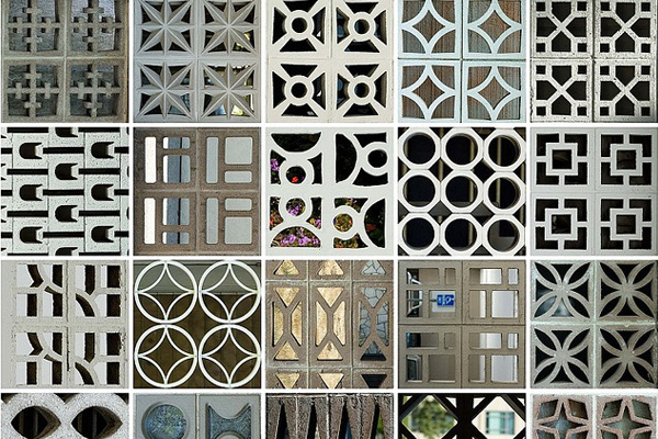 collage of patterns of breeze blocks
