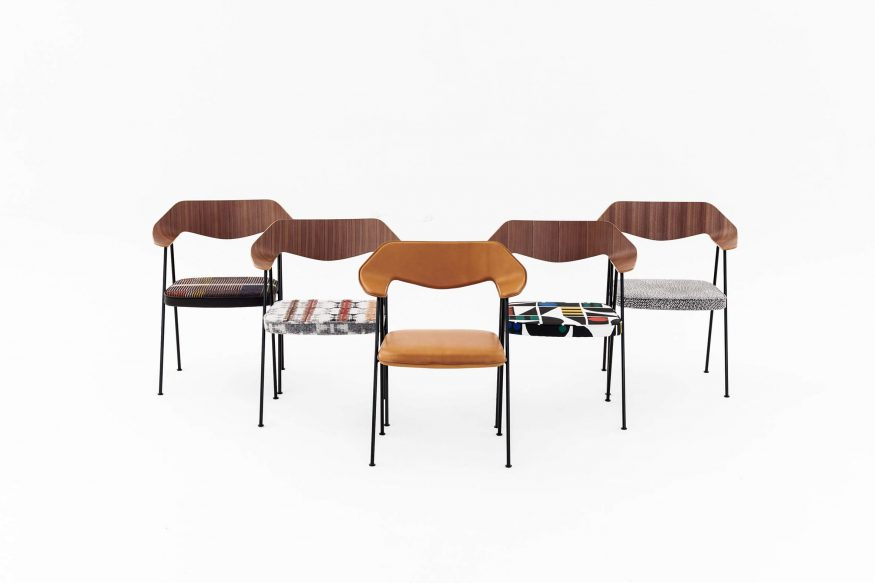 Six of the new 675 Chairs offered in the auction.