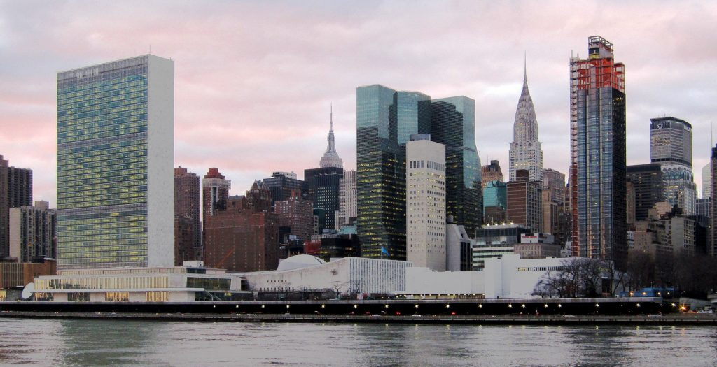 united nations building in nyc in international style