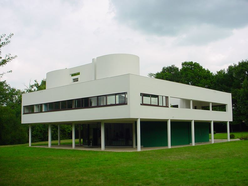 corbusiers's villa savoye in international style