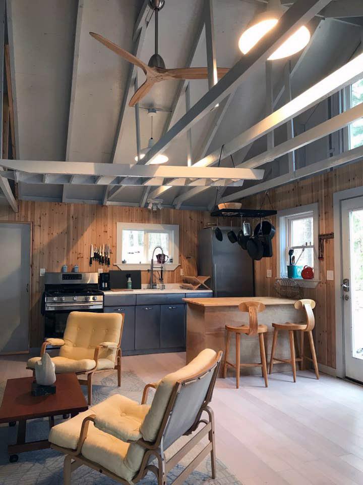 mid century modern airbnbs in maine