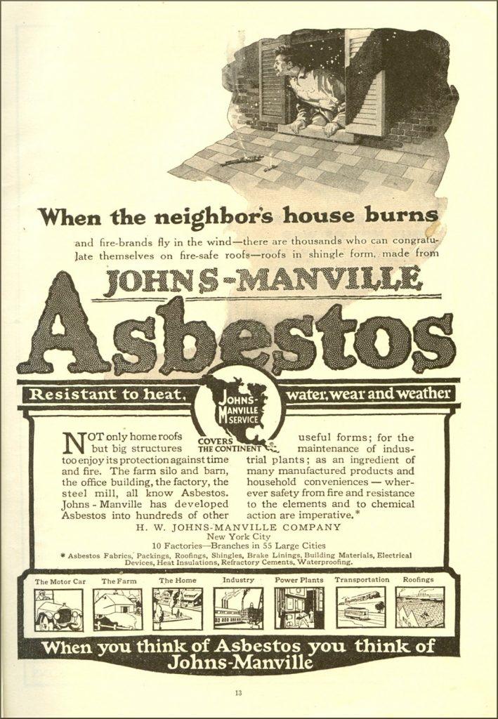 Vintage asbestos ad