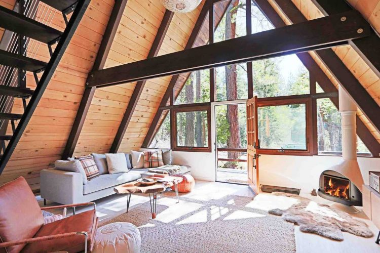 mid century modern airbnbs lake tahoe a frame