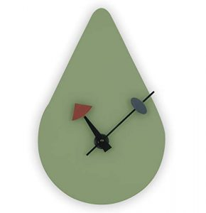 avocado green midcentury modern wall clock