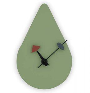 avocado green midcentury modern wall clock
