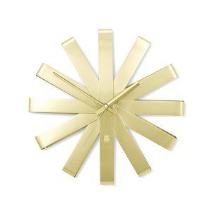 gold blunt starburst midcentury modern clock