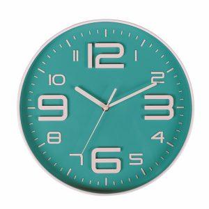 modern aqua wall clock