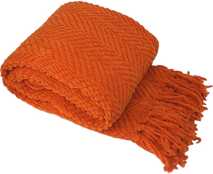 burnt orange mid century modern
