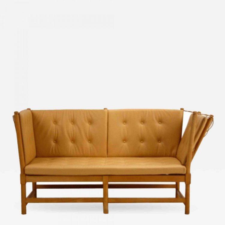 danish modern mogensen spokeback sofa