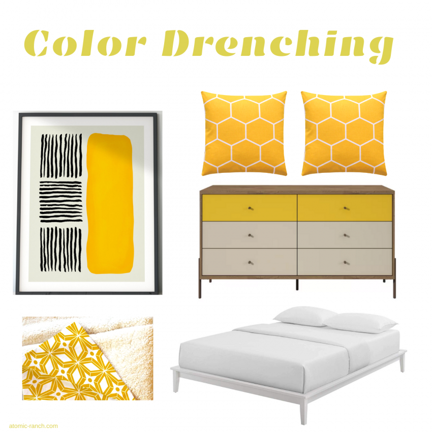 color drenching mid century modern trends