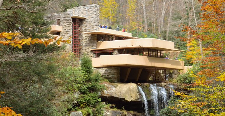 cantilever fallingwater in the fall
