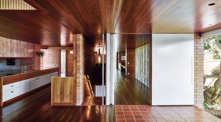 restored mid century modern kitchen