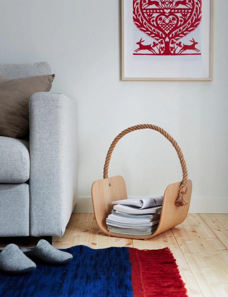 wooden basket from ikea's new holiday line