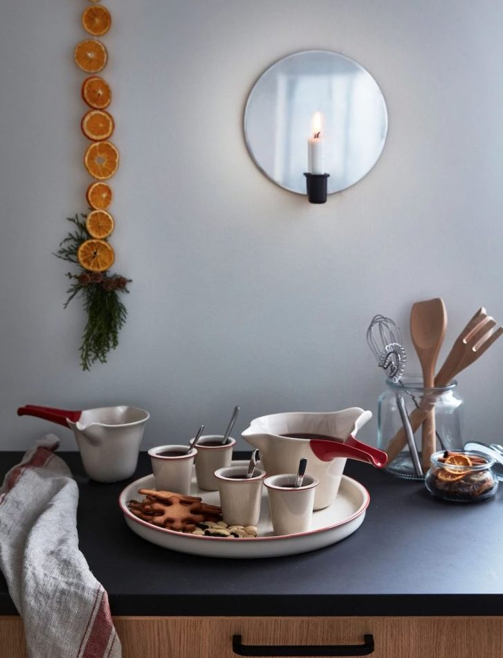 kitchen with ikea's new holiday line