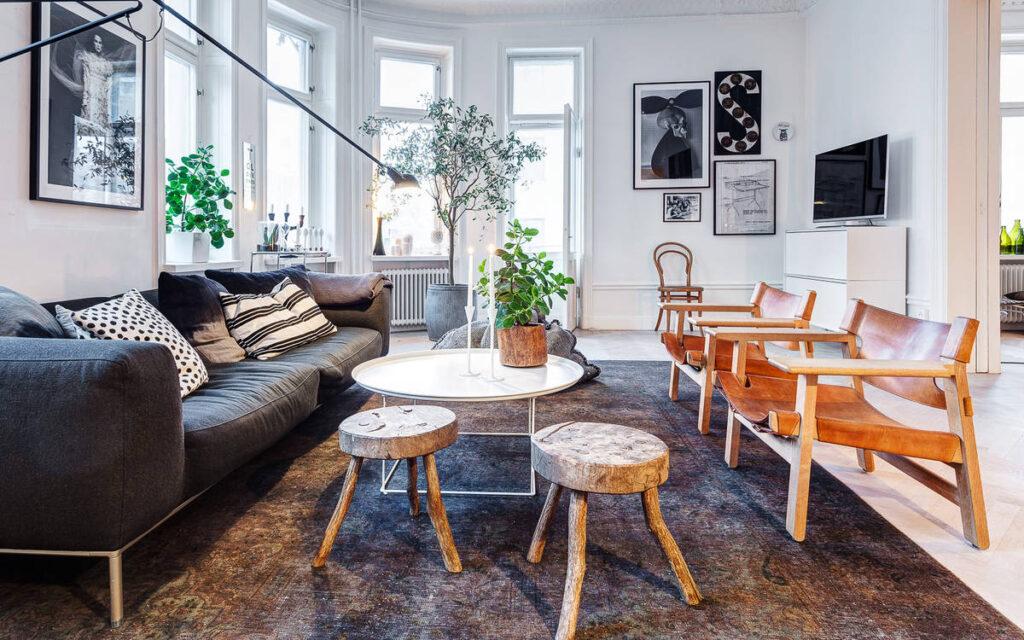 scandinavian modern living room