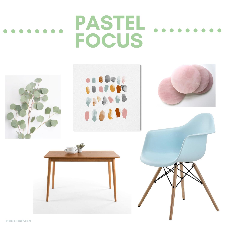 pastel focus mid century modern trends