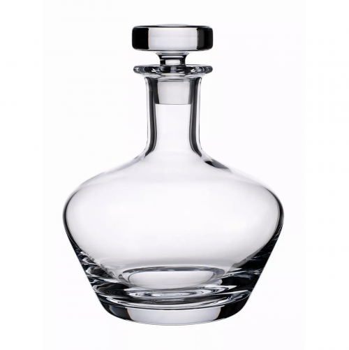 Mid mod barware clear glass carafe.