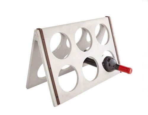 concrete wine rack
