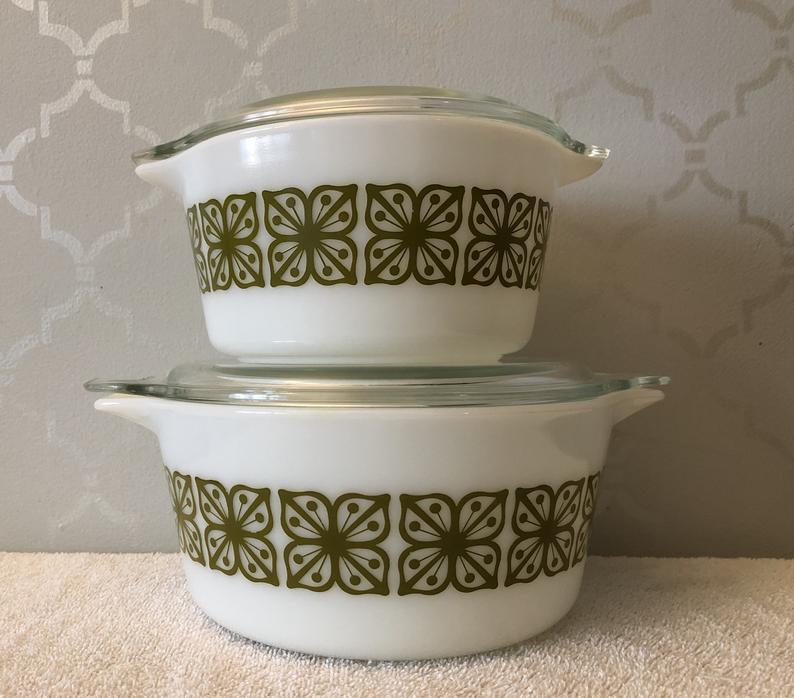 retro dinnerware vintage pyrex casserole dish