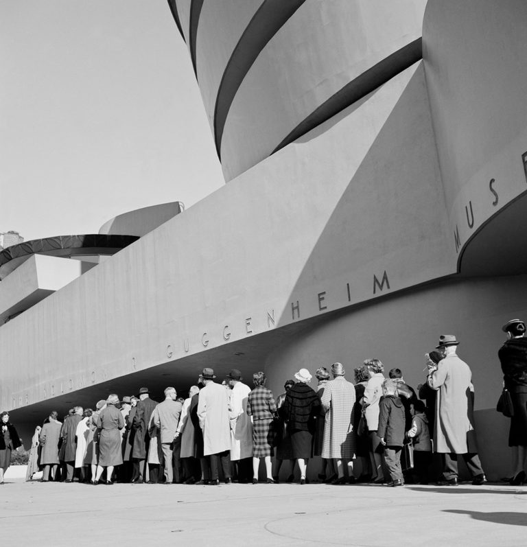 line of opening day of guggenheim