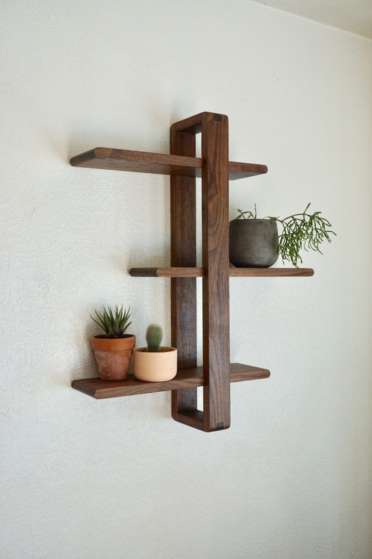 plant lover gifts plant shelf walnut