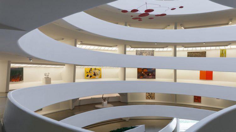 interior spiral ramp of the guggenheim