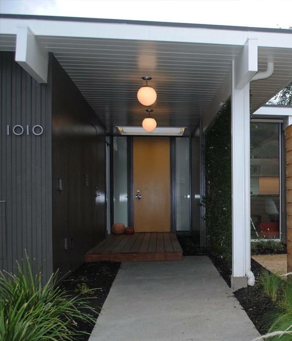 mid century paneling exterior