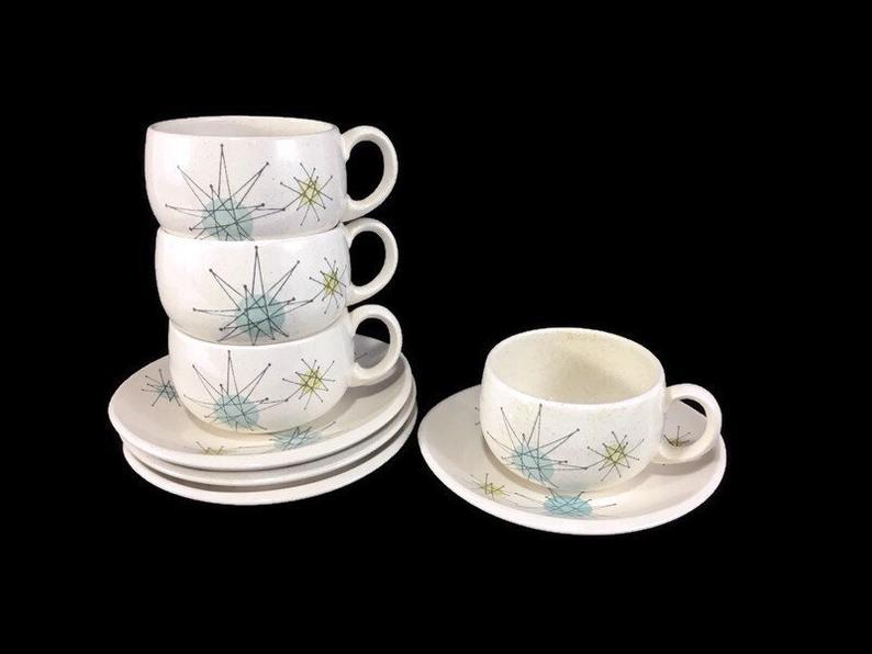 retro dinnerware starburst teacups