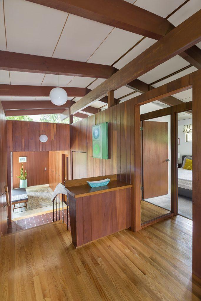 post and beam Minneapolis home interior