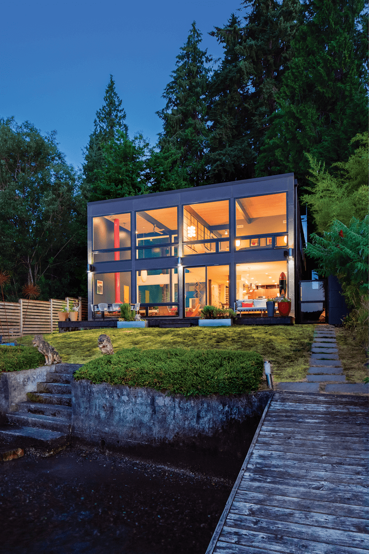 post and beam glass box house