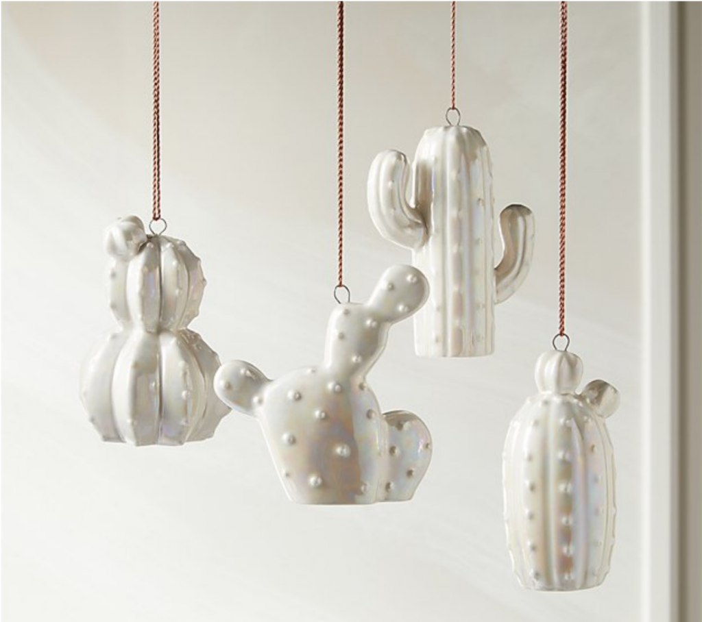 modern cactus ornaments
